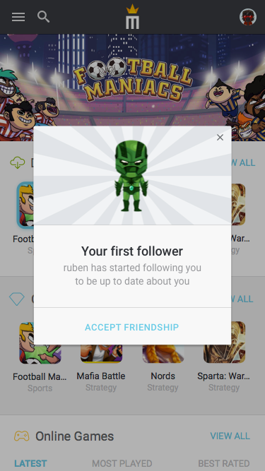 4.3 – Notification – First Follower