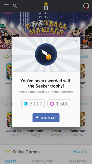 5.1 – Notification – New Trophy