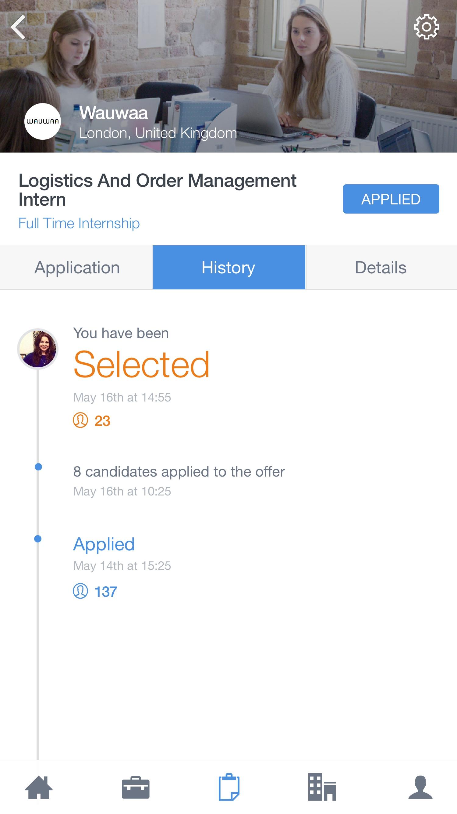 Application – History