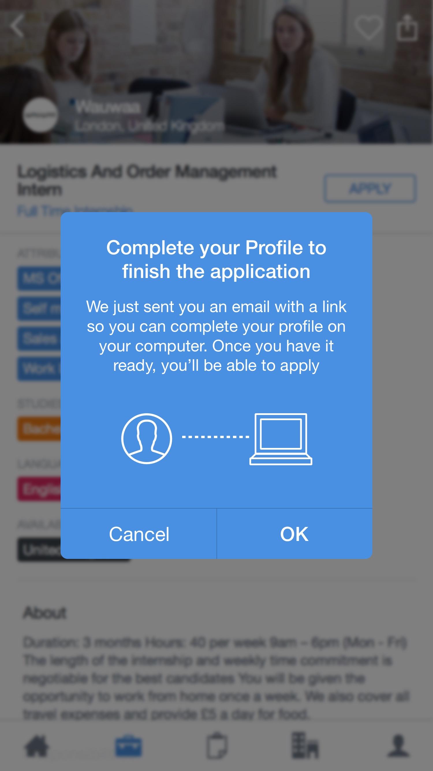 Complete profile – Blue